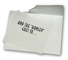 hanley awards envelope